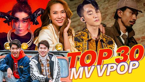 30 MV Vpop phát hành trong năm 2019 có lượt view cao nhất