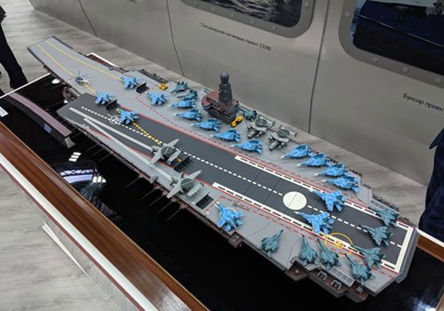 Mô hình tàu sân bay hạng nặng Lamantin của Cục thiết kế PJSC Nevskoye