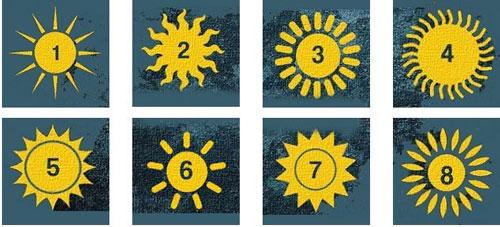 Bạn chọn hình ảnh mặt trời nào?