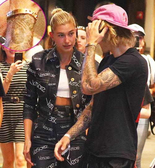 Justin Bieber đã xăm lên tay khuôn mặt của bạn gái cũ.