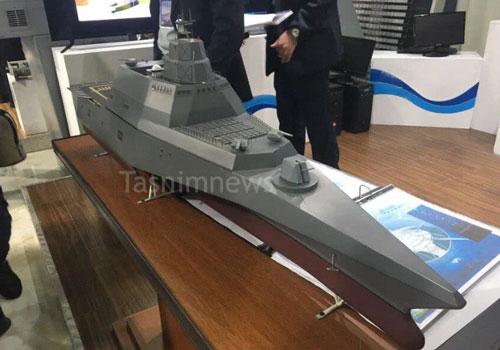 Đầu tháng 12, truyền thông Iran đã khiến phương Tây phải kinh ngạc khi công bố mô hình một khu trục hạm ba thân trong tương lai của nước này. Nguồn ảnh: QQ.