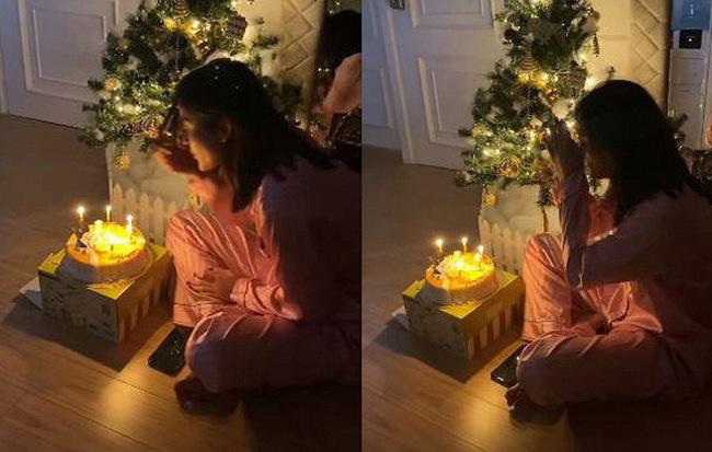 Á hậu Huyền My đón sinh nhật bên gia đình.