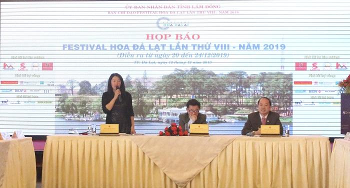 bà Trần Thị Vũ Loan, Phó Chủ tịch UBND TP. Đà Lạt, Phó trưởng Ban Tổ chức