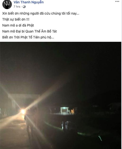 Vân Hugo gặp tai nạn giữa đêm khuya, xe mất lái bị lật nhào trên đường vắng  - Ảnh 1.