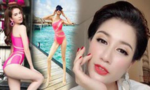 Phát 'sốt' với ảnh Trang Trần diện bikini được Ngọc Trinh tặng