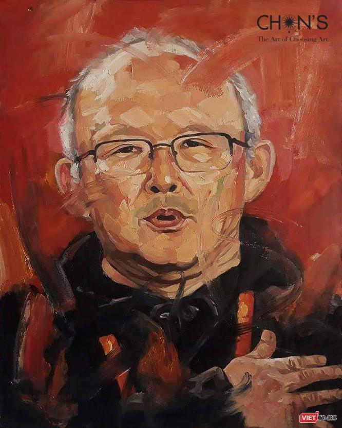 """bức tranh""""Người thầy của tôi"""" được họa sĩ Trần Thế Vĩnh vẽ trên chất liệu sơn dầu"""