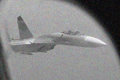 Máy bay chiến đấu Nga được báo cáo đã cất cánh từ căn cứ không quân Hmeimim để chặn chiếc P-8A Poseidon của Mỹ. Ảnh: Nziv.