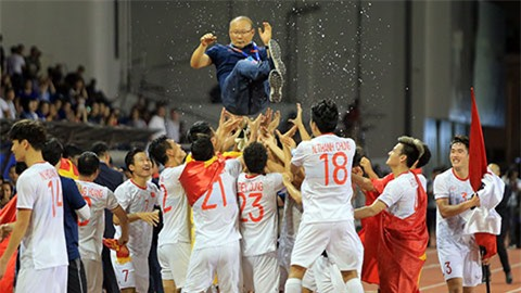 Park Hang Seo đang giành được nhiều thành công với bóng đá Việt Nam