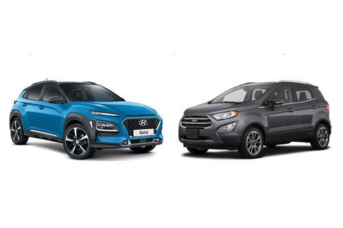 Hyundai Kona và Ford EcoSport (phải). Ảnh: Tinh tế.