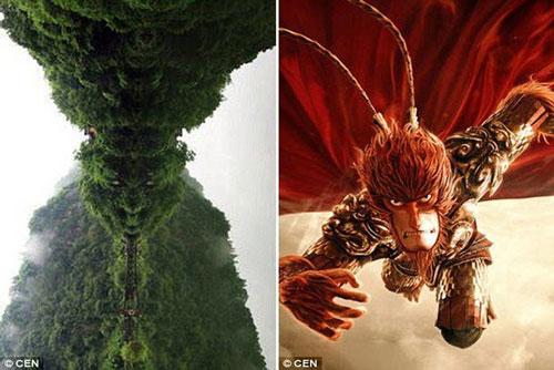 Trung Quốc: Núi thiêng có hình giống mặt Tôn Ngộ Không
