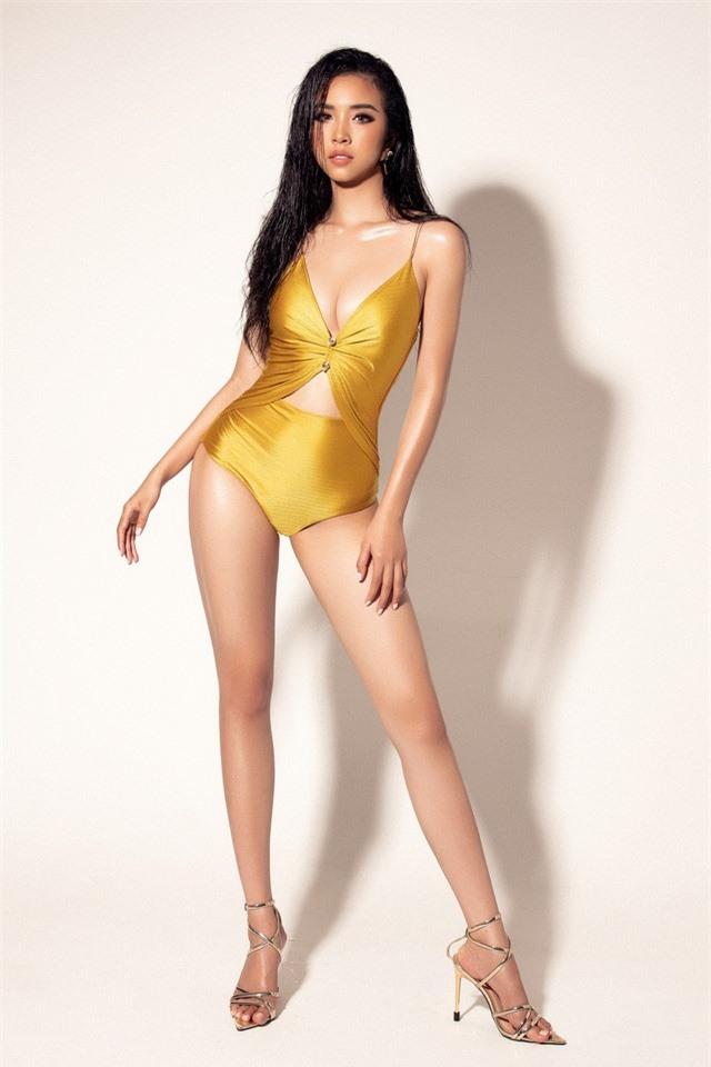 """Á hậu Thúy An khoe dáng """"nuột nà"""" với bikini vàng bắt mắt tại Miss Intercontinental - Ảnh 3."""