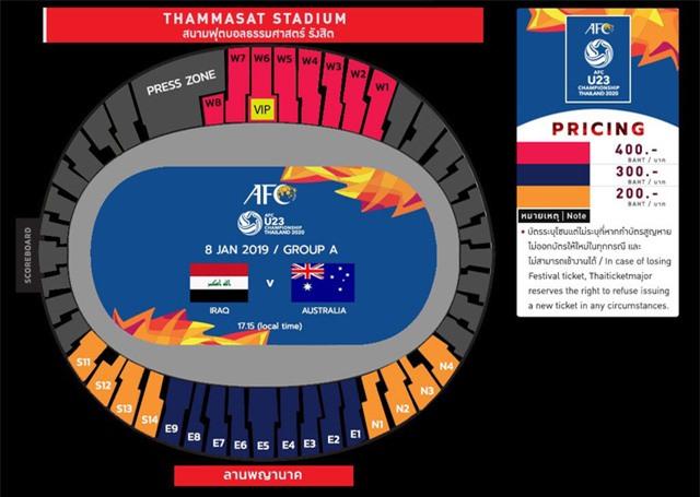 Giá vé xem U23 Việt Nam tại giải U23 châu Á 2020 cao nhất 306 nghìn đồng - Ảnh 1.