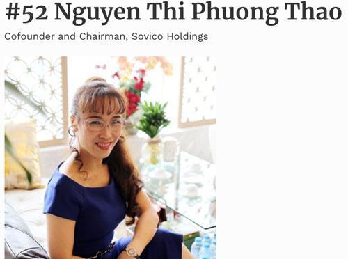 Bà Nguyễn Thị Phương Thảo.