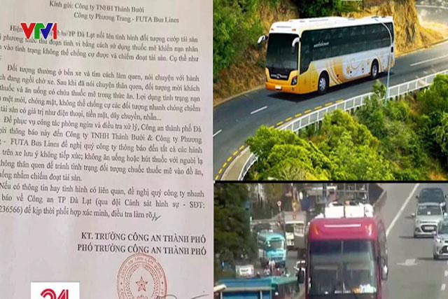 Đà Lạt cảnh báo tình trạng đánh thuốc mê trên xe khách để cướp tài sản
