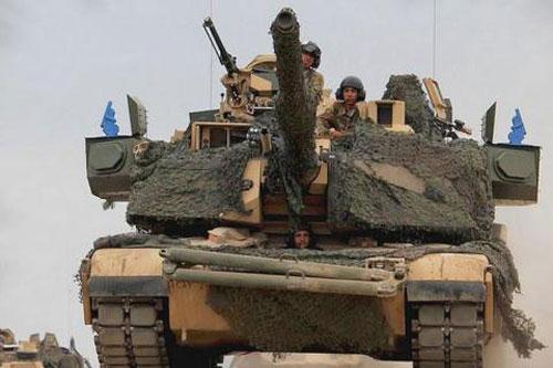 Xe tăng Mỹ trang bị hệ thống Trophy-A của Israel.