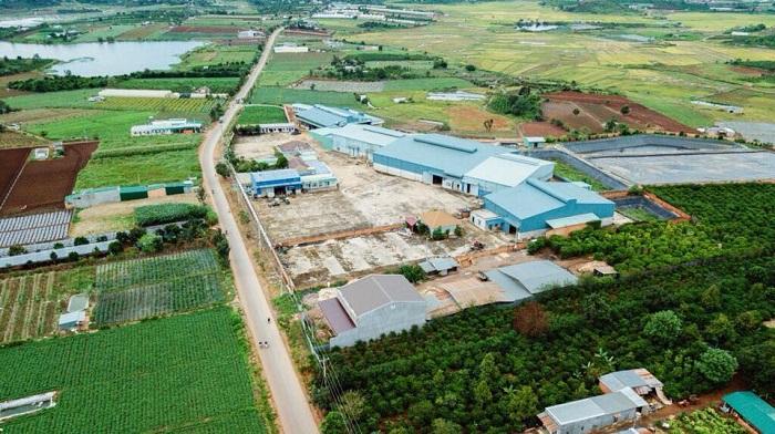 Nhà máy sản xuất, chế biến Cà phê Hồ Phượng nhìn từ trên cao