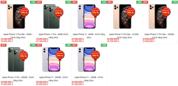 iPhone 11 Series giảm giá.