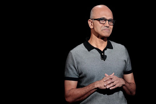CEO Satya Nadella của Microsoft - Ảnh: Getty Images.