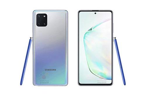 Hình ảnh rò rỉ của Samsung Galaxy Note 10 Lite.