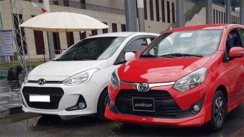 Hyundai Grand i10 và Toyota Wigo (phải).