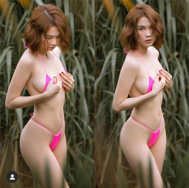 """Hậu chia tay bạn trai đại gia, Ngọc Trinh tiếp tục """"đốt mắt"""" fan với khoảnh khắc diện bikini siêu nhỏ khoe body quyến rũ - Ảnh 4."""