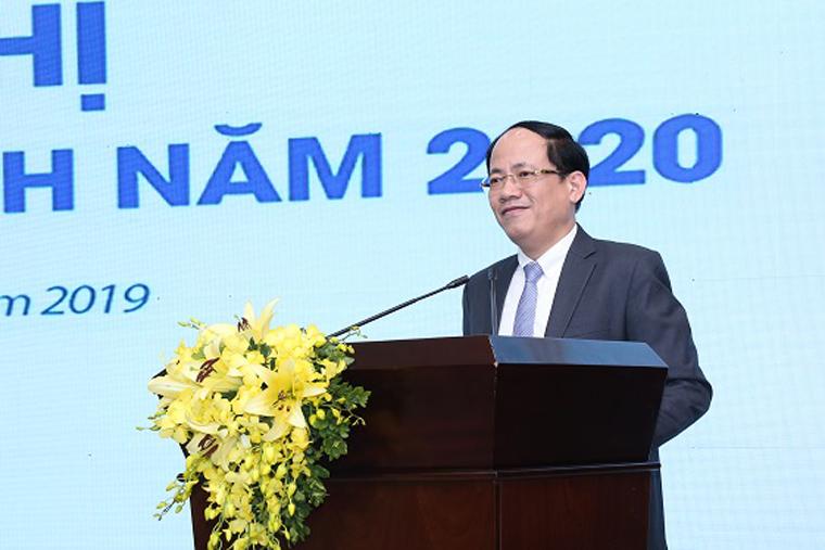 Thứ trưởng Bộ TT&TT Phạm Anh Tuấn phát biểu chỉ đạo tại Hội nghị triển khai kế hoạch năm 2020 của EMS.