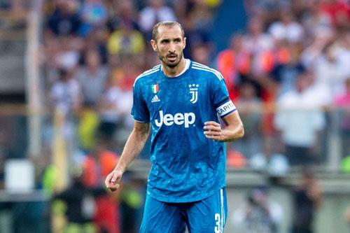 4. Giorgio Chiellini (Juventus).