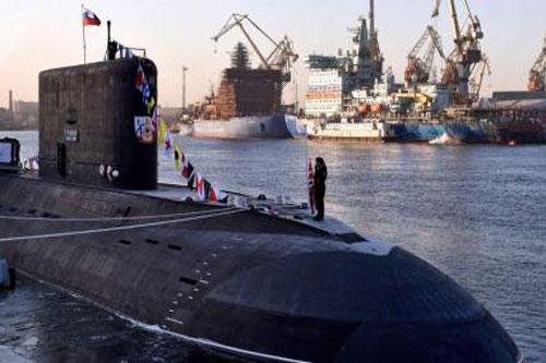 Tàu ngầm phi hạt nhân Nga.