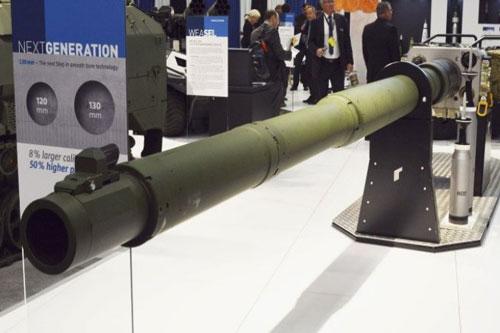 Tập đoàn Rheinmetall của Đức vừa giới thiệu khẩu pháo xe tăng cỡ nòng 130mm và quảng cáo đây là