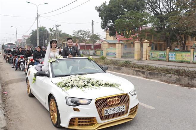 Chiếc ô tô Audi đón dâu sang chảnh - Ảnh: Lại Trung.