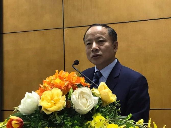 Chủ tịch VINASME Nguyễn Văn Thân phát biểu tại Hội nghị Tổng kết Chương trình cấp quốc gia về (xúc tiến thương mại) XTTM năm 2019.