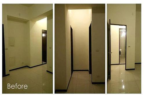 Việc tiết chế nội thất đã giúp cho phòng khách, nhà bếp mặc dù đặt cạnh nhau nhưng vẫn có cảm giác rộng rãi.