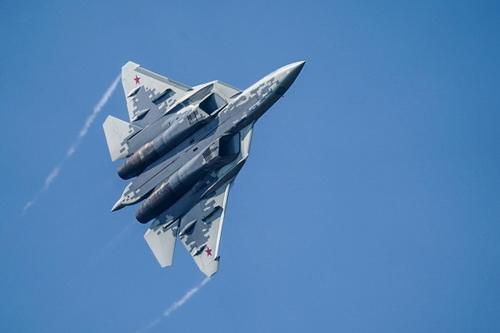 Truyền thông Trung Quốc cho rằng Su-57 không đạt chuẩn tiêm kích thế hệ 5. Ảnh: TASS.