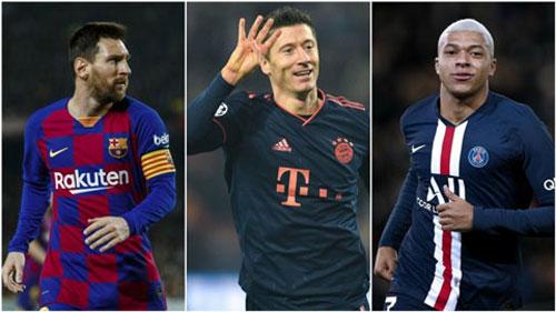 Lewandowski là cẩu thủ ghi nhiều bàn thắn nhất năm 2019 (54)Lionel Messi Kylian Mbappe
