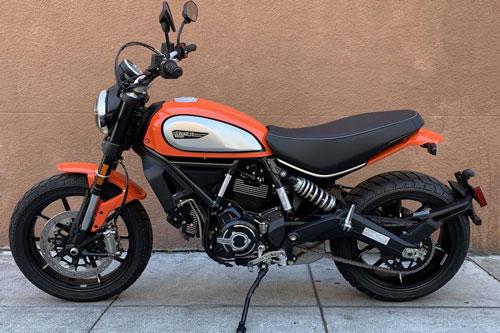 7. Ducati Scrambler Icon Atomic Tangerine.