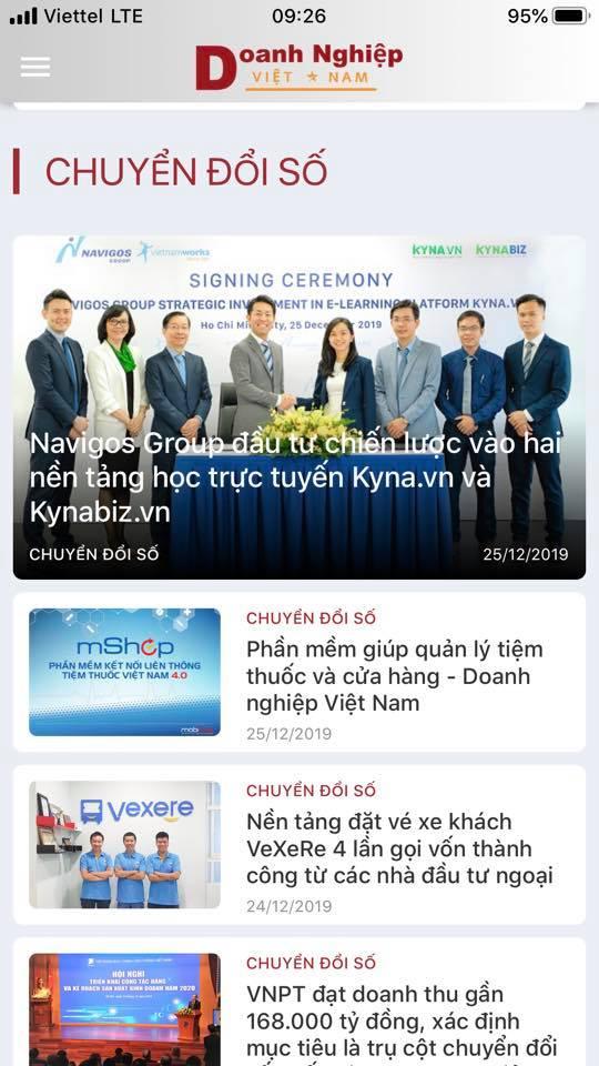 Doanh nghiệp Việt Nam đã có ứng dụng đọc báo trên App.