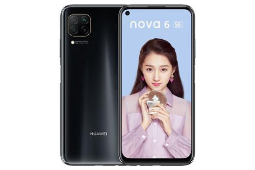 Huawei Nova 6 SE sở hữu thiết kế với khung kim loại, 2 bề mặt phủ kính cường lực. Máy có kích thước 159,2x76,3x8,7 mm, trọng lượng 183 g.