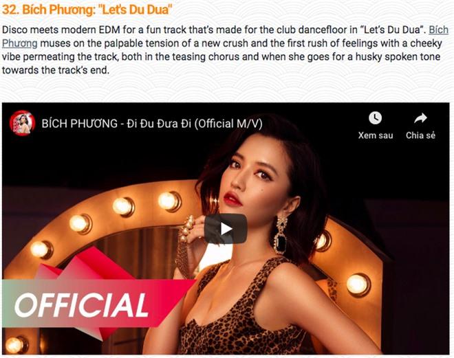 Sơn Tùng M-TP, Bích Phương, Noo Phước Thịnh lọt top 50 ca khúc nổi bật nhất Châu Á cùng TWICE, GOT7 - Ảnh 8.