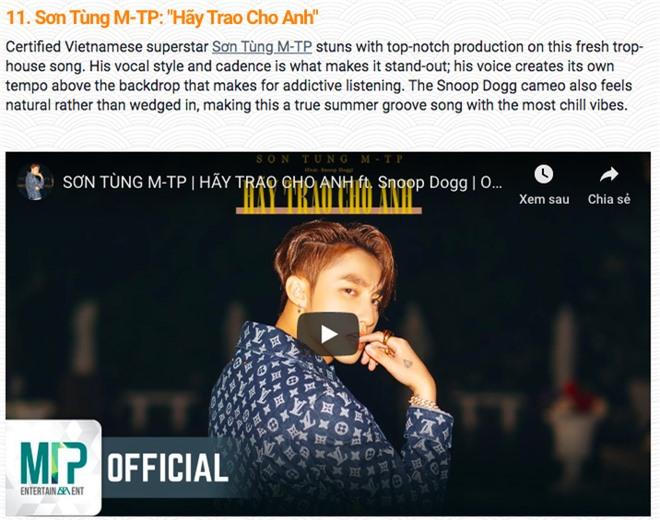 Sơn Tùng M-TP, Bích Phương, Noo Phước Thịnh lọt top 50 ca khúc nổi bật nhất Châu Á cùng TWICE, GOT7 - Ảnh 2.