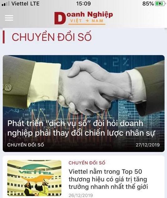 Doanh nghiệp Việt Nam đã chính thức có mặt trên hai kho ứng dụng iOS và Android.