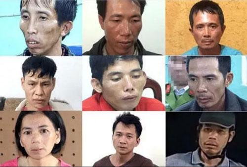 Các bị cáo trong vụ án.