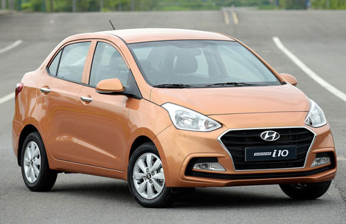 Hyundai Grand i10 sedan. Ảnh: TC Motor.