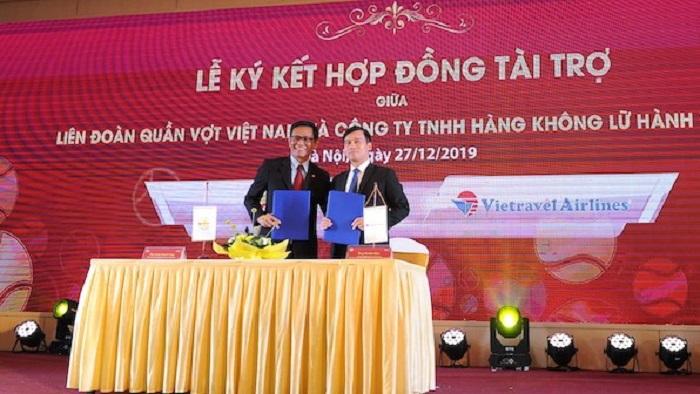 Ký kết tài trợ giữa Vietravel Airlines với Liên đoàn quần vợt Việt Nam