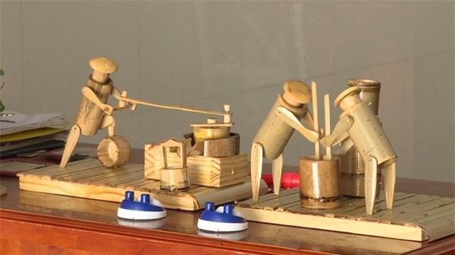 Độc đáo mô hình thủ công mỹ nghệ từ tre trúc - Ảnh 1.