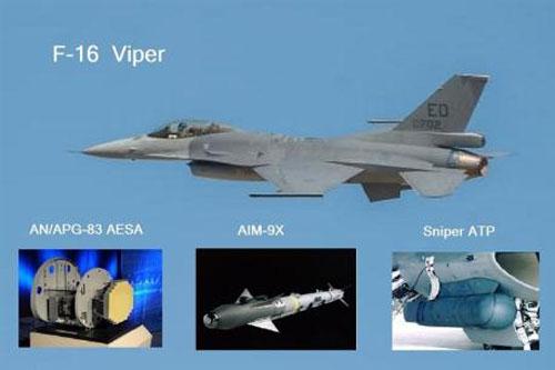 Trang bị tối tân của tiêm kích F-16.