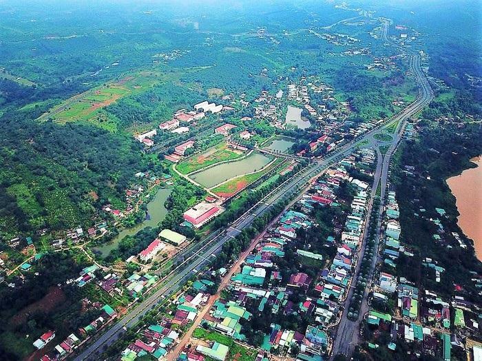 Thành phố Gia Nghĩa nhìn từ trên cao (Ảnh: ST)