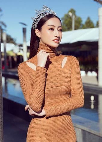 Hoa hậu Lương Thùy Linh vừa chia sẻ loạt ảnh mới tại Đà Lạt.