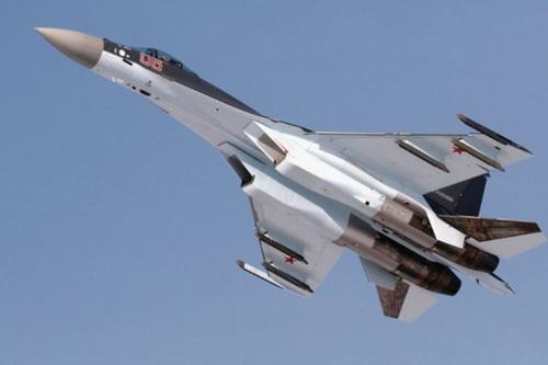 Tiêm kích đa năng thế hệ 4,5 Su-35S của Không quân Nga. Ảnh: TASS.