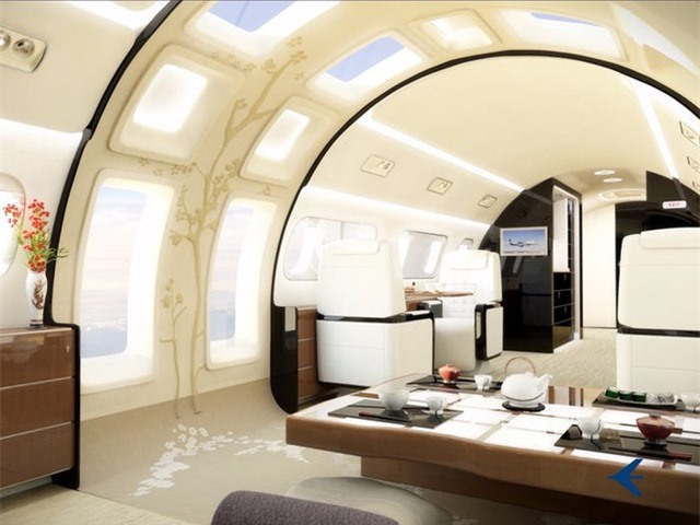Nội thất sang chảnh bên trong các máy bay tư nhân đắt đỏ nhất thế giới - 13