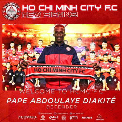 CLB TP.HCM thông báo chiêu mộ thành công Pape Diakite.
